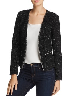 Michael Michael Kors Chain Trimmed Tweed Jacket