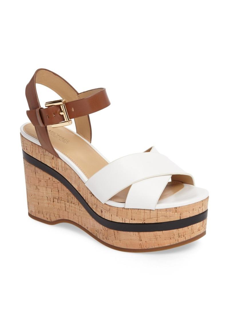 MICHAEL Michael Kors Chandler Platform Wedge Sandal XNZYLs