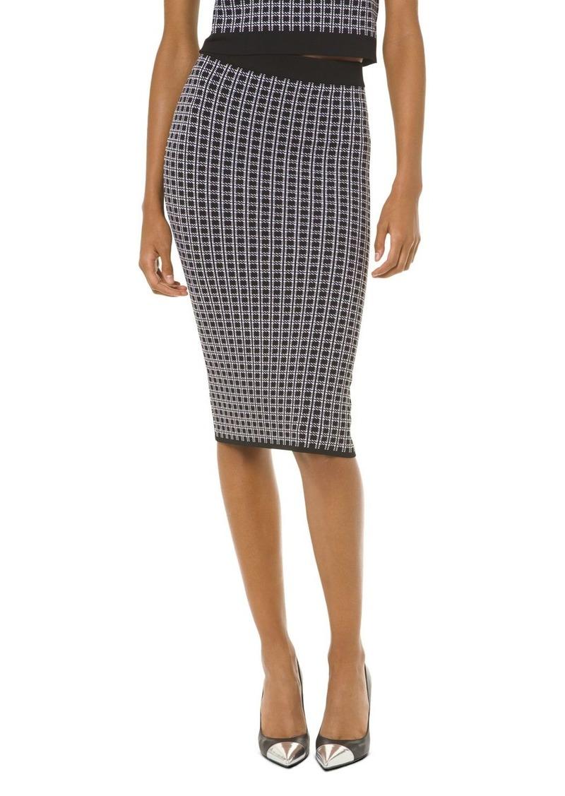MICHAEL Michael Kors Check-Print Pencil Skirt