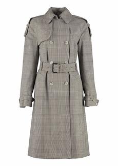 MICHAEL Michael Kors Checked Wool Trench Coat