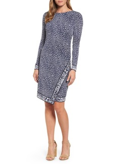 MICHAEL Michael Kors Cheetah Border Print Sheath Dress
