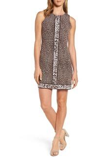 MICHAEL Michael Kors Cheetah Border Print Shift Dress