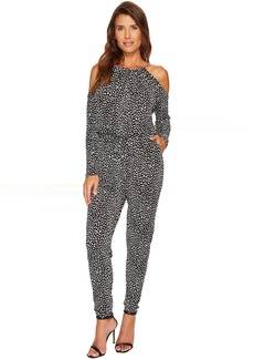 MICHAEL Michael Kors Cheetah Cold Shoulder Jumpsuit