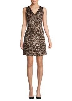 MICHAEL Michael Kors Cheetah-Print A-Line Dress