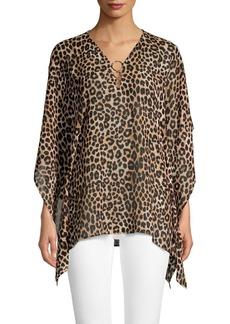 MICHAEL Michael Kors Cheetah-Print Asymmetric Top