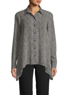MICHAEL Michael Kors Cheetah-Print Long-Sleeve Shirt