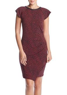 MICHAEL Michael Kors Cheetah Ruffle Dress