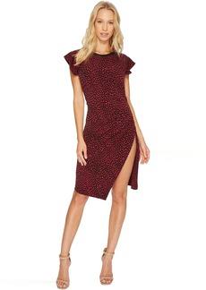 Cheetah Ruffle Sleeve Dress