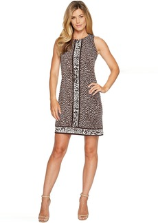 MICHAEL Michael Kors Cheetah Sleeveless Border Dress