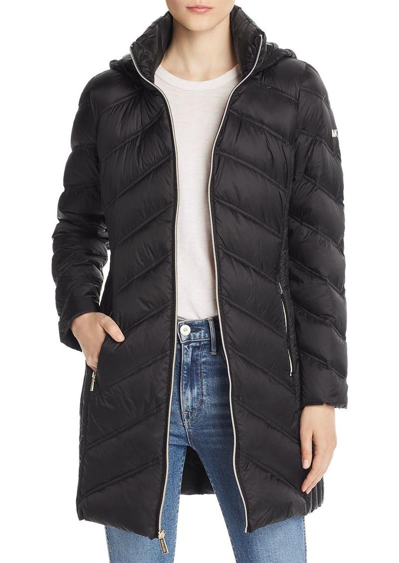 MICHAEL Michael Kors Chevron Packable Down Coat