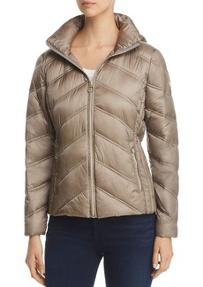 MICHAEL Michael Kors Chevron Packable Short Down Coat