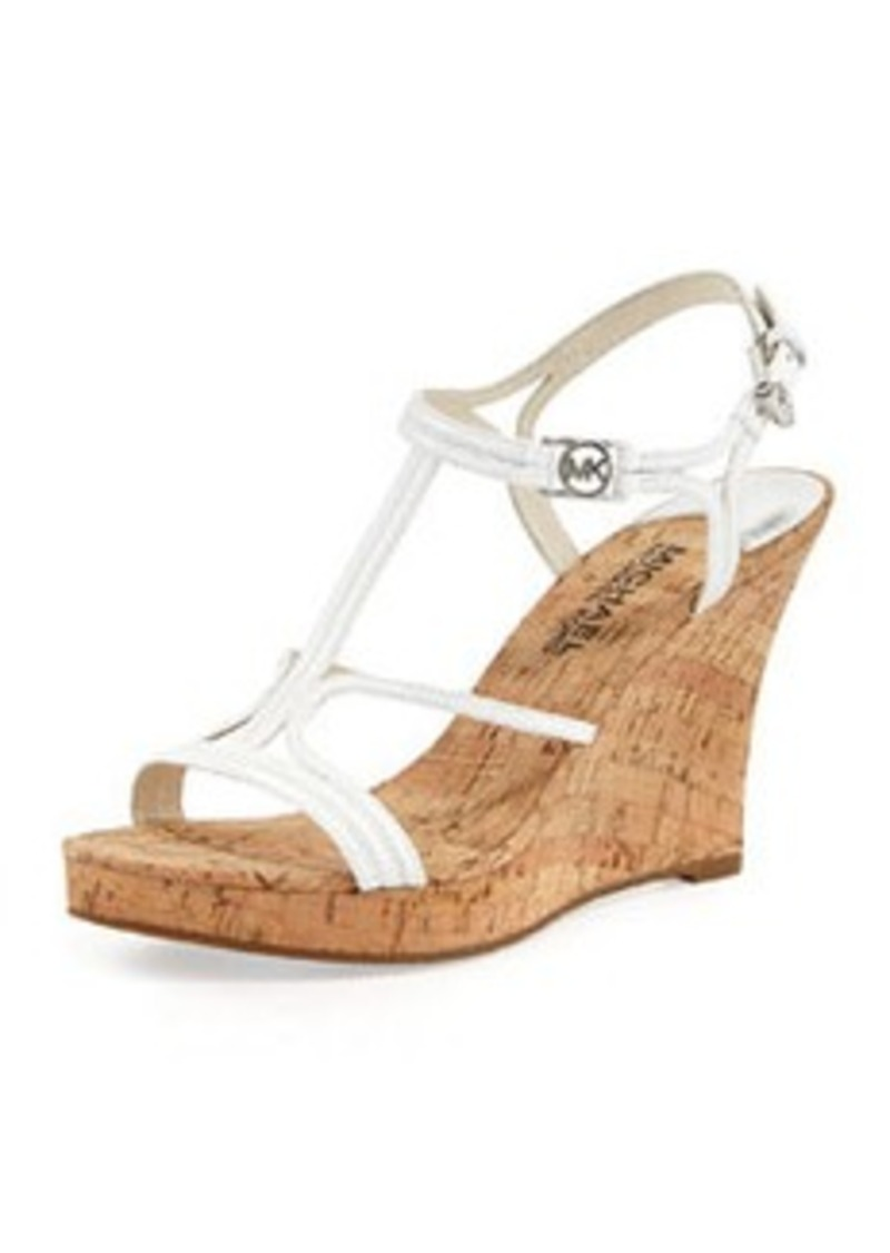 MICHAEL Michael Kors Cicely Wedge Sandal, White