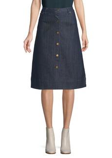 MICHAEL Michael Kors Classic Denim Skirt