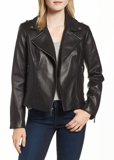 MICHAEL Michael Kors Classic Leather Moto Jacket