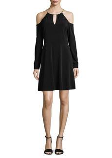 MICHAEL MICHAEL KORS Cold Shoulder A-Line Dress