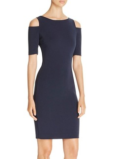 MICHAEL Michael Kors Cold Shoulder Back-Zip Sheath Dress