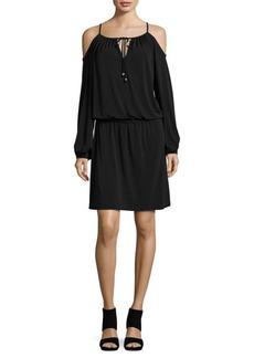 MICHAEL MICHAEL KORS Cold-Shoulder Blouson Dress