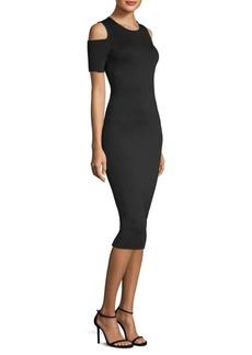MICHAEL MICHAEL KORS Cold Shoulder Bodycon Dress