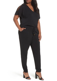 MICHAEL Michael Kors Cold Shoulder Jumpsuit (Plus Size)
