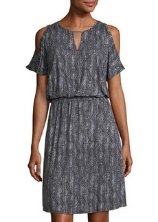 MICHAEL Michael Kors Cold-Shoulder Keyhole Dress
