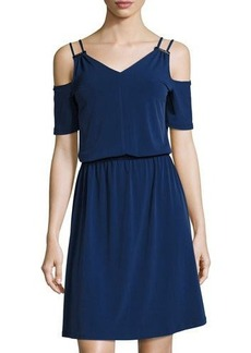 MICHAEL Michael Kors Cold-Shoulder Knit Dress