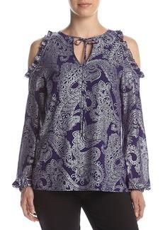 MICHAEL Michael Kors® Cold Shoulder Printed Blouse