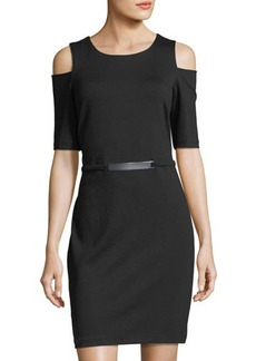 MICHAEL Michael Kors Cold-Shoulder Sheath Dress
