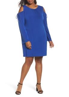 MICHAEL Michael Kors Cold Shoulder Shift Dress (Plus Size)