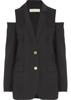 MICHAEL Michael Kors Cold-shoulder stretch-wool blazer