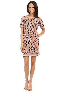 MICHAEL Michael Kors Coley Short Sleeve Border Dress
