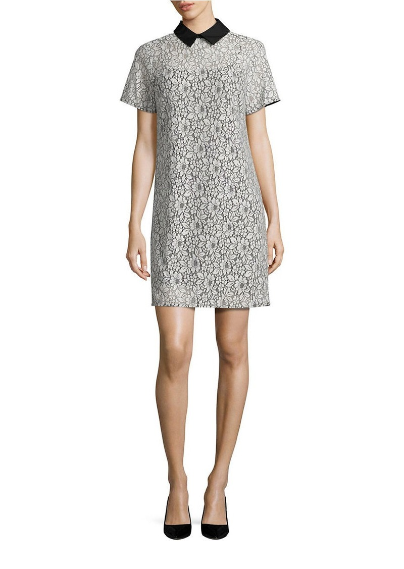 MICHAEL MICHAEL KORS Collared Lace T-Shirt Dress