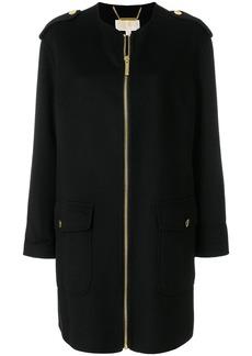 MICHAEL Michael Kors collarless zip-up coat