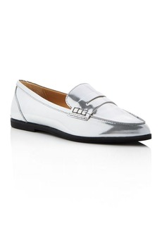 MICHAEL Michael Kors Connor Metallic Pointed Toe Penny Loafers