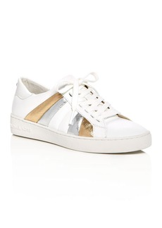 MICHAEL Michael Kors Conrad Metallic Stripe Lace Up Sneakers