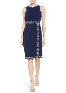 MICHAEL Michael Kors Contrast Border Jersey Faux Wrap Dress