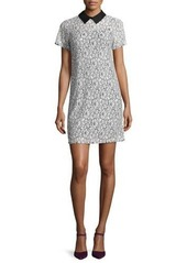 MICHAEL Michael Kors Contrast-Collared Lace T-Shirt Dress