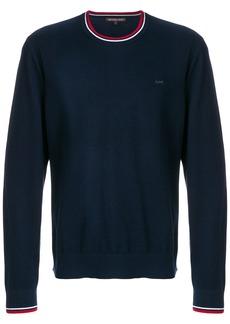 Michael Michael Kors contrast-trim crew neck sweater - Blue