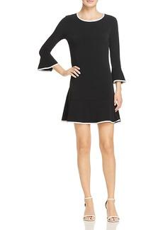 Michael Michael Kors Contrast Trim Flounce Dress