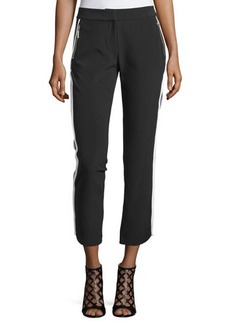 MICHAEL Michael Kors Contrast-Trim Zip-Pocket Pants