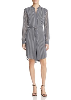 MICHAEL Michael Kors Corsican Stripe Belted Shirt Dress