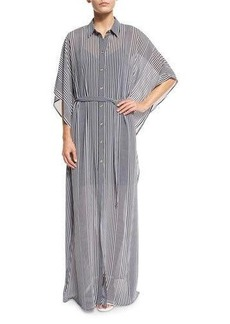 MICHAEL Michael Kors Corsican Striped Belted Caftan