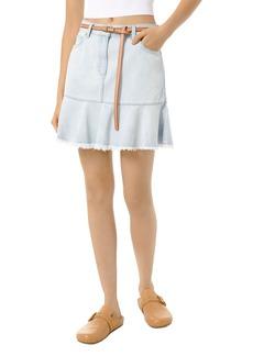 MICHAEL Michael Kors Cotton Flounce Denim Skirt