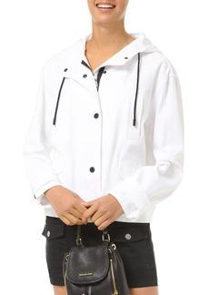 MICHAEL Michael Kors Cotton Logo Print Anorak