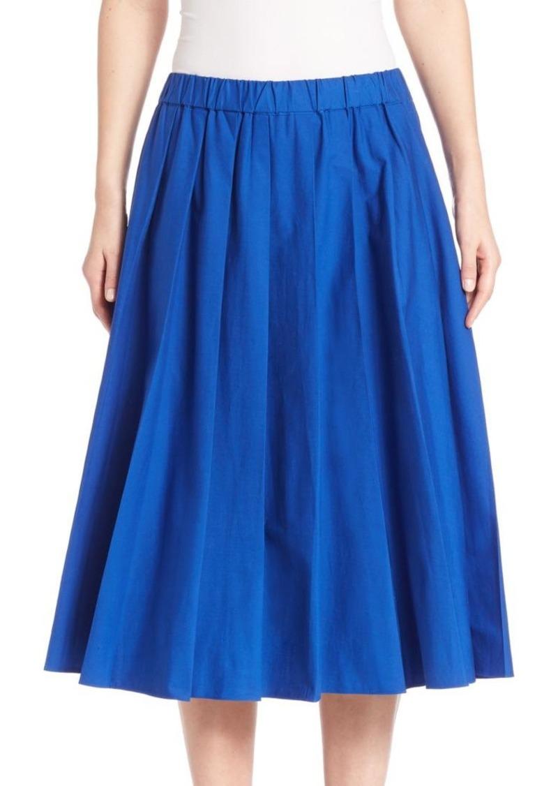 MICHAEL MICHAEL KORS Cotton Pleated Skirt