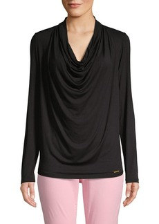 MICHAEL Michael Kors Cowlneck Long-Sleeve Top