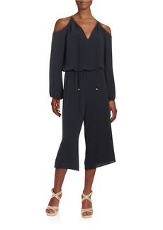 MICHAEL MICHAEL KORS Crepe Cold-Shoulder Jumpsuit