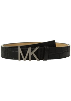 MICHAEL Michael Kors Croc Logo Belt