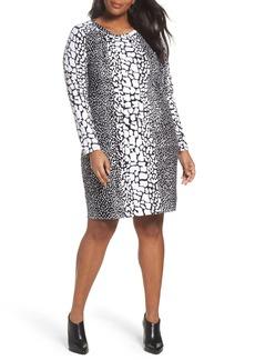 MICHAEL Michael Kors Croc Print Ponte Dress (Plus Size)