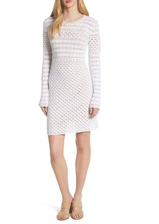 MICHAEL Michael Kors Crochet Body-Con Cotton Sweater Dress