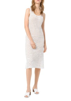 MICHAEL Michael Kors Crocheted Sheer-Effect Midi Sheath Dress
